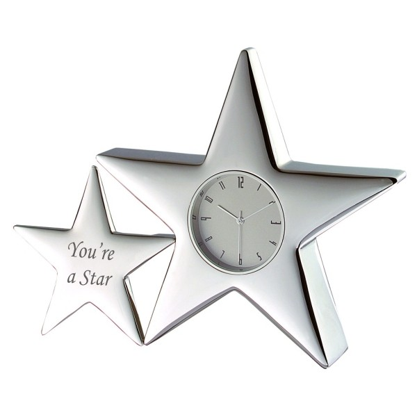 "Twin Star Clock - ""You're a Star"""