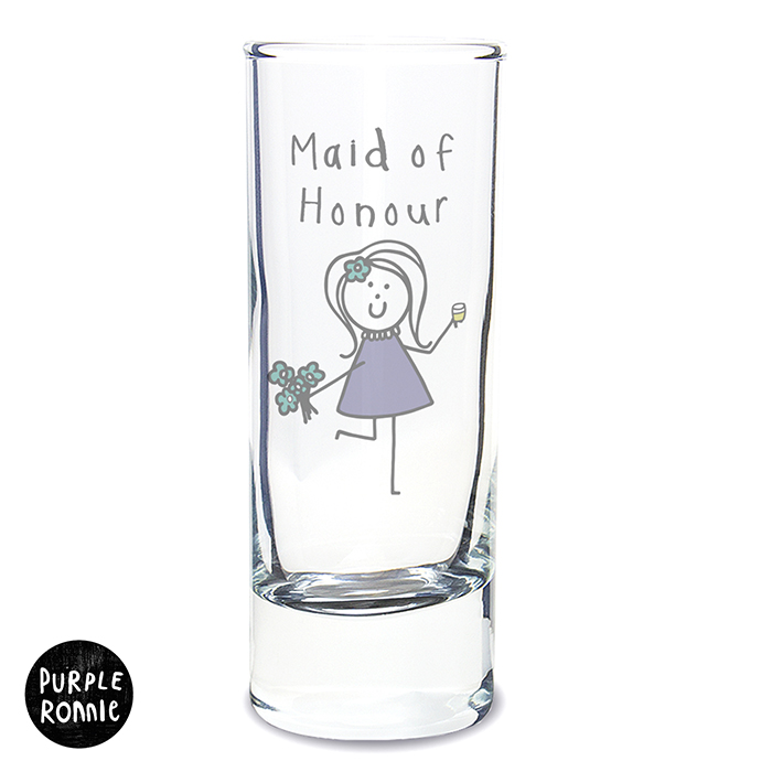 Purple Ronnie Female Wedding Shot Glass