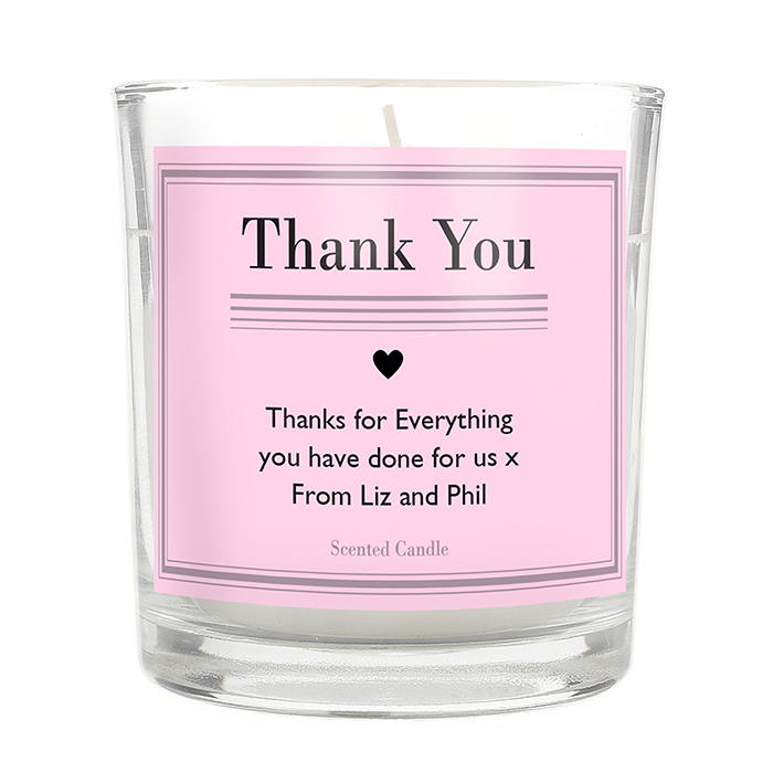 Classic Pink Scented Jar Candle