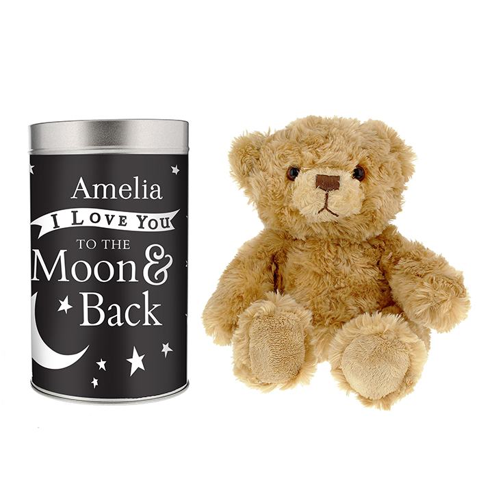 To the Moon and Back … Teddy in a Tin