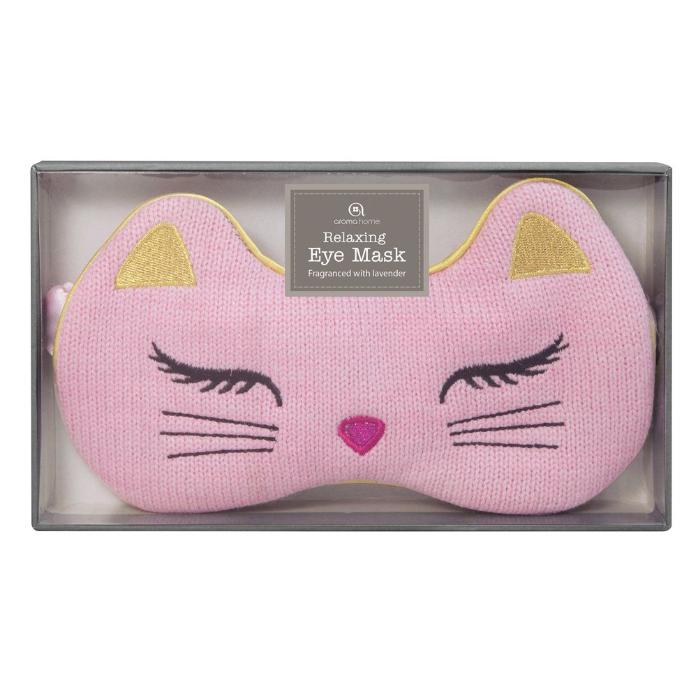 Knitted Cat Eye Mask by Aroma Home