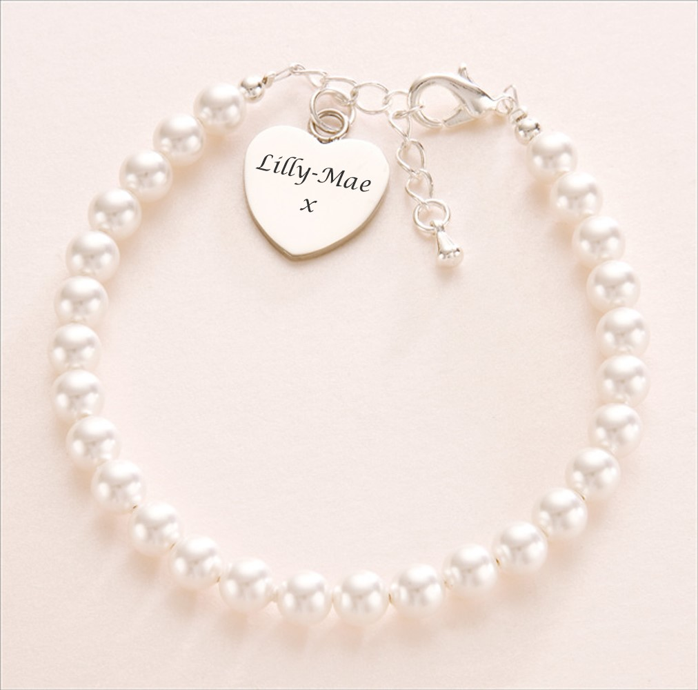Pearl Bracelet with Engraving