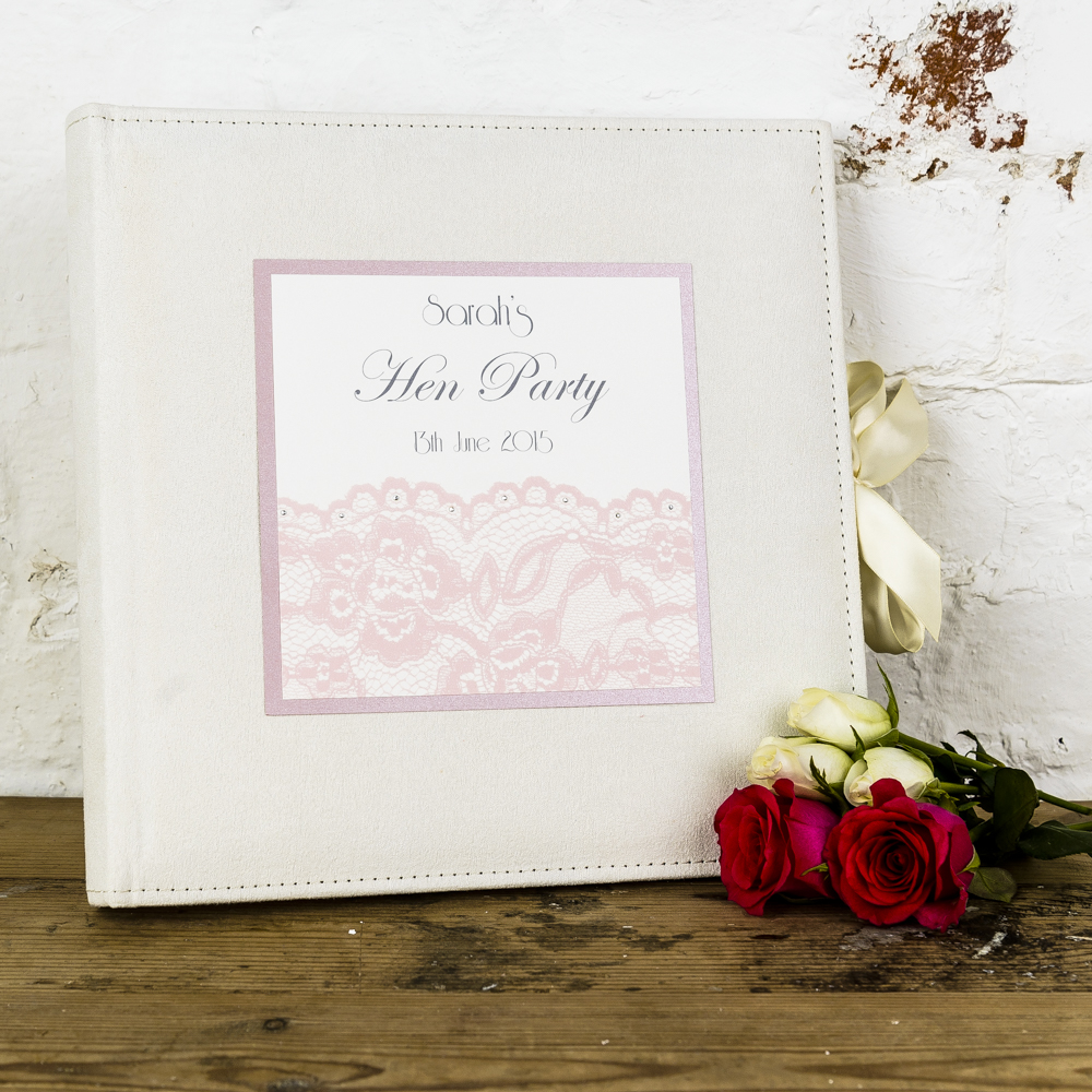 Joint Wedding Gifts For Parents : Lace Hen Party Photo Album Bridal Gift Box