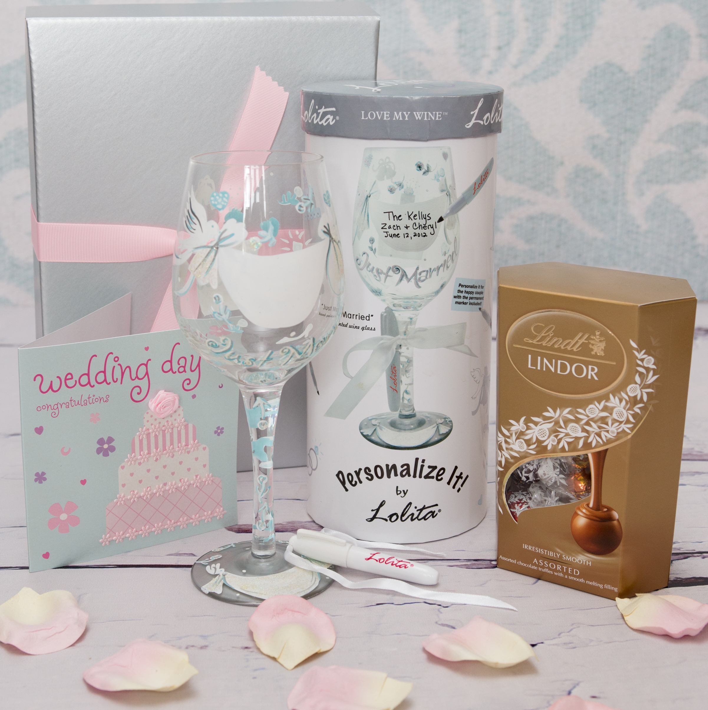 Joint Wedding Gifts For Parents : Designed exclusively for The Bridal Gift Box.