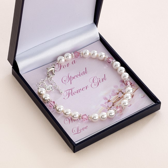 Bridesmaid / Flower Girl Birthstone bracelet The Bridal Gift Box