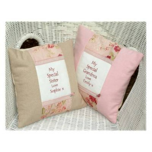 Personalised Linen Message Cushion