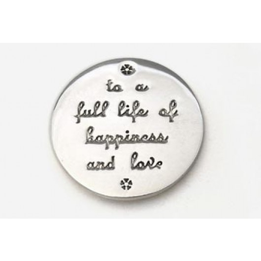 Silver Happiness and Love Token