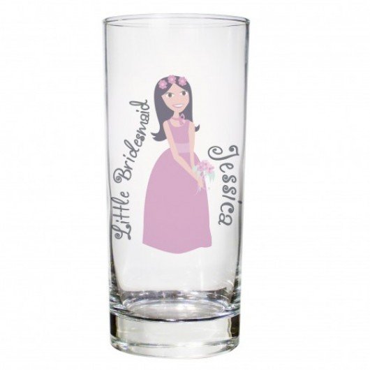 Fabulous Hi Ball Glass - Flower Girl or Bridesmaid- Personalised