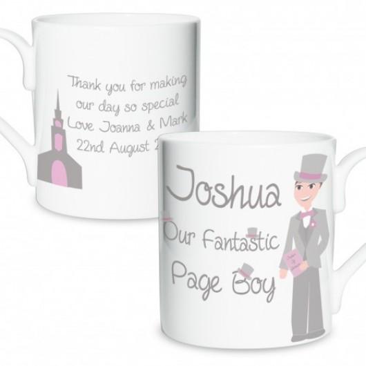 Fabulous Page Boy Mug - Personalised