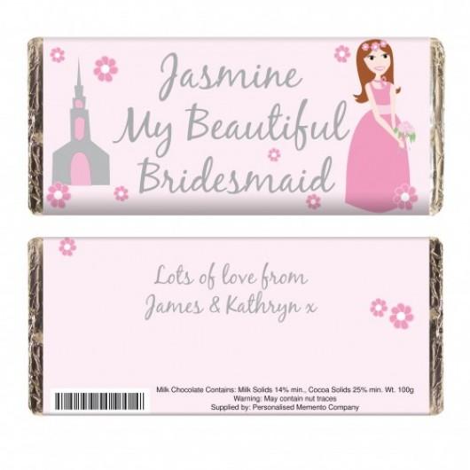 Fabulous Bridesmaid Chocolate Bar - Personalised