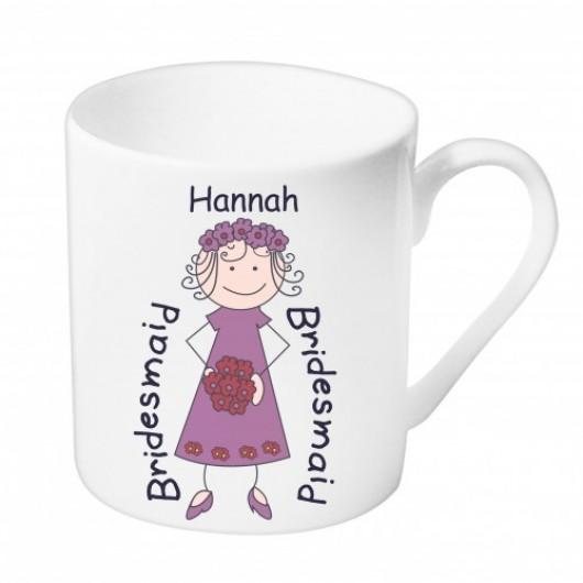 Personalised Bridesmaid or Flower Girl Mug
