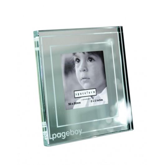 Classic Stripe Mini Mirror 'Pageboy' Photo Frame