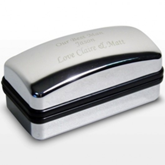 Silver Finished Cufflink Box