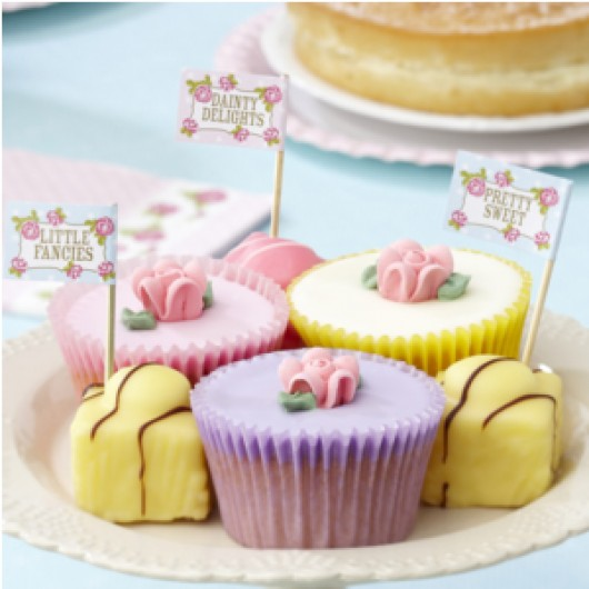 Vintage Rose - Cupcake/Sandwich Sticks