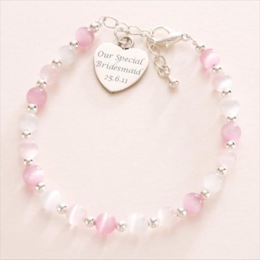 Engraved Heart Charm Bracelet