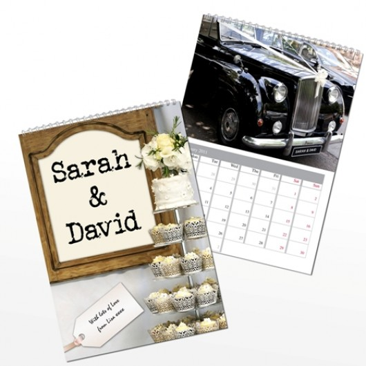 Personalise this Just Married Calendar with the couples first names ...