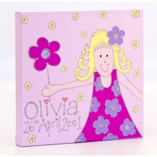 Personalised Little Miss Canvas