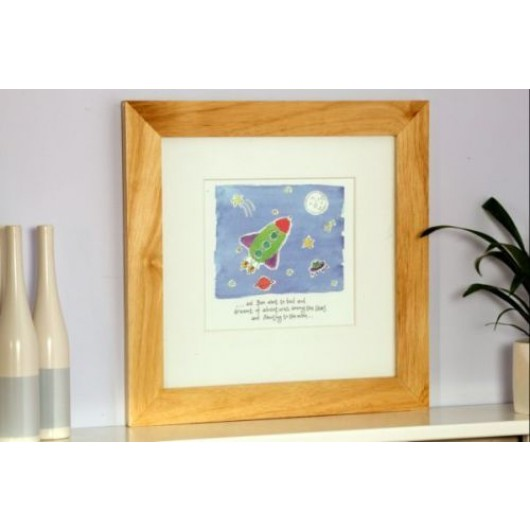 Personalised Framed Rocket Watercolour Print