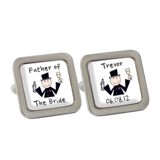 Personalised Cartoon Wedding Cufflinks