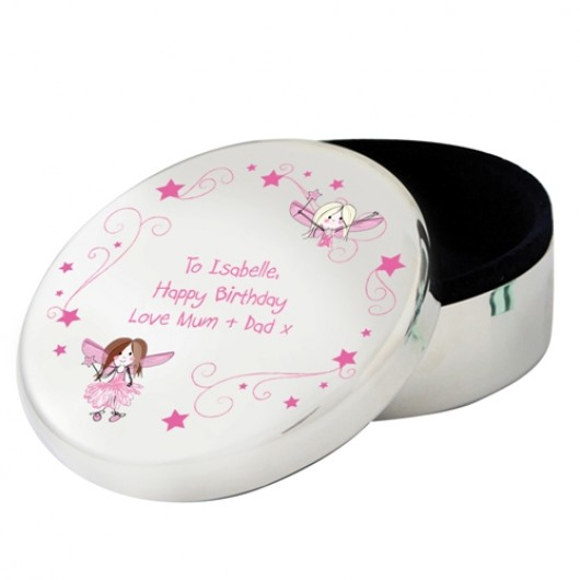 Personalised Fairy Round Trinket