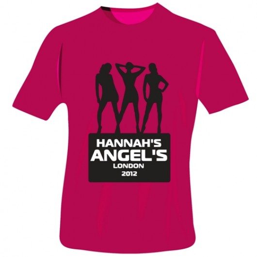 Personalised Angels Hen Do T-Shirts in Fuchsia Pink