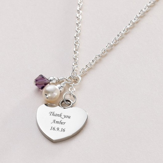 Birthstone and Pearl Personalised Necklace