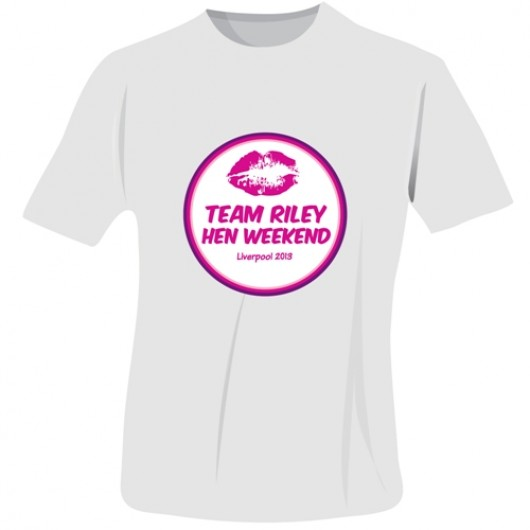 Personalised Lips Hen Do T-Shirt in White
