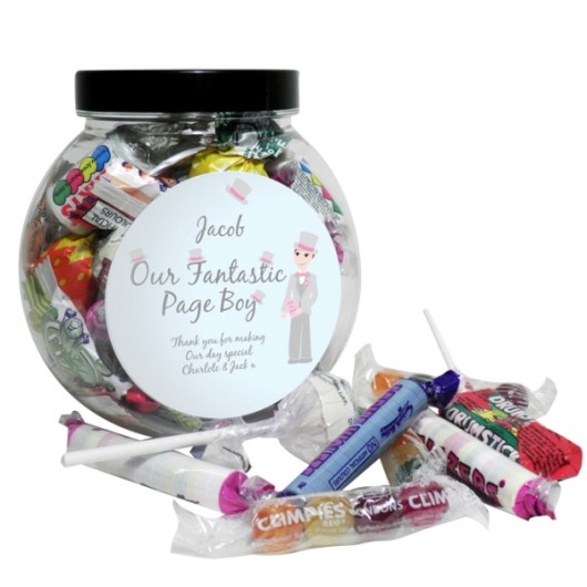 Fabulous Page Boy Sweetie Jar