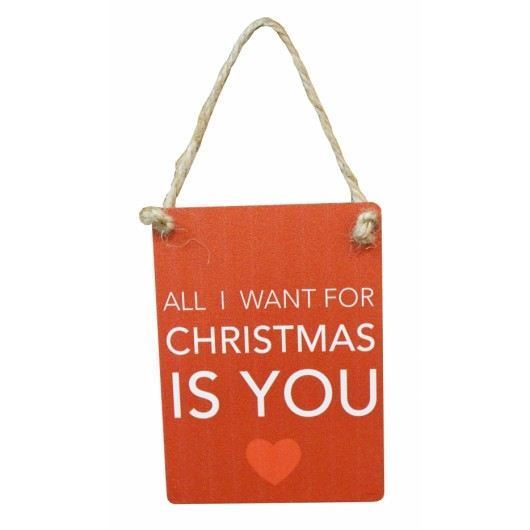All I Want For Xmas Is You Mini Sign