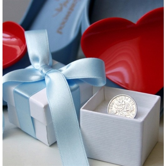 Bride's Lucky Sixpence & Poem