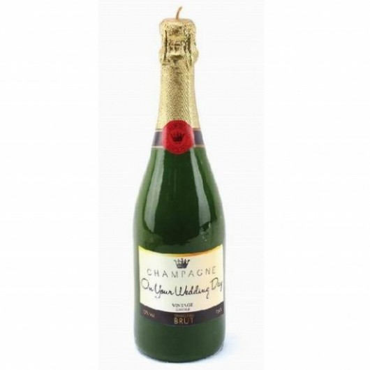 Desire Champagne Bottle Wedding Candle
