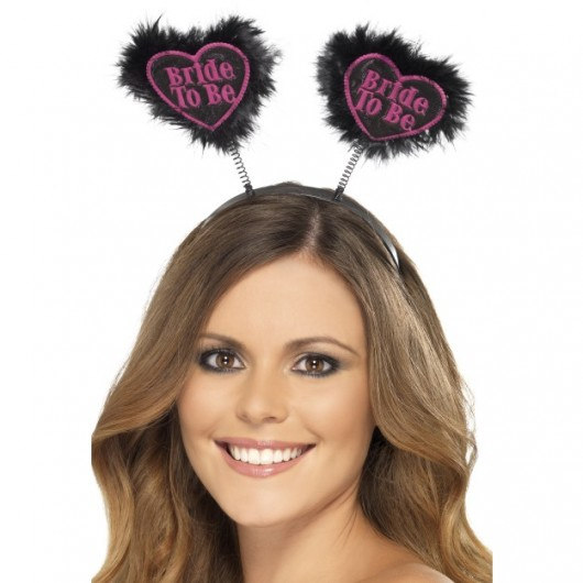 Bride To Be Love Heart Boppers (Black)