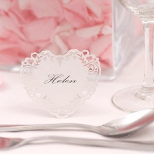 Vintage Romance - Free Standing Laser Cut Place Card