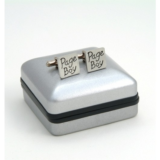 "Pewter ""Page Boy"" Wedding Cufflinks"