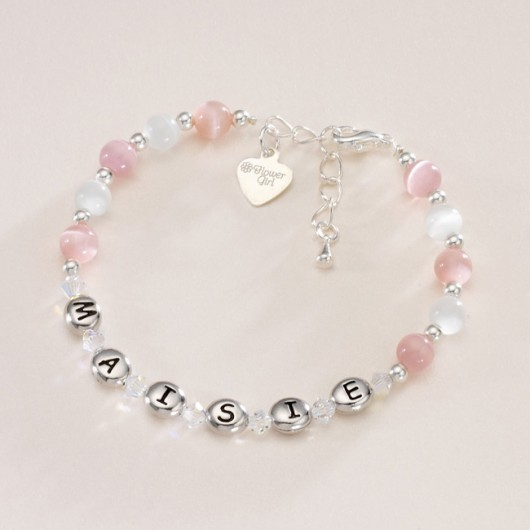 Name Bracelet With Message Charm