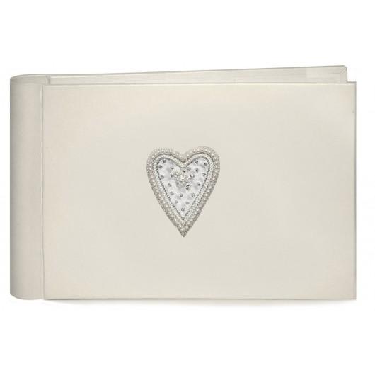 Beaded Heart Pocket Photo Album