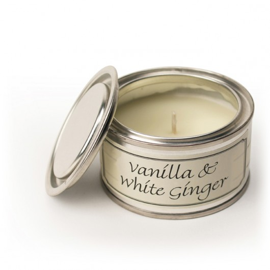 Best Wishes - Vanilla & White Ginger Fragranced Candle Tin