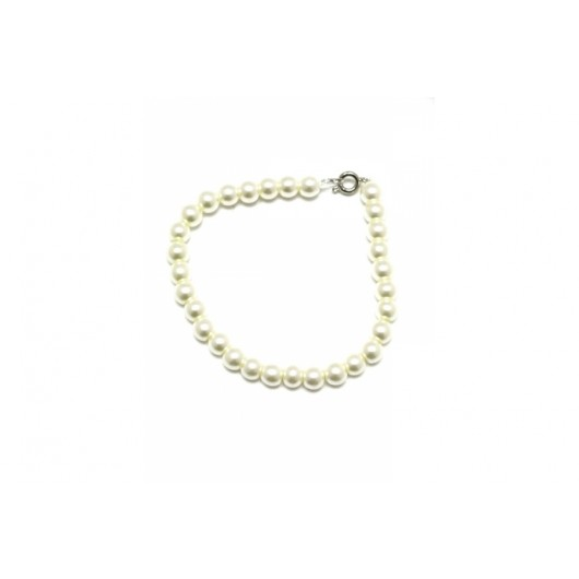 Glass Pearl Cream Bracelet