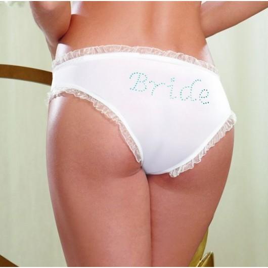 Brides 'Something Blue' Rhinestone Knickers