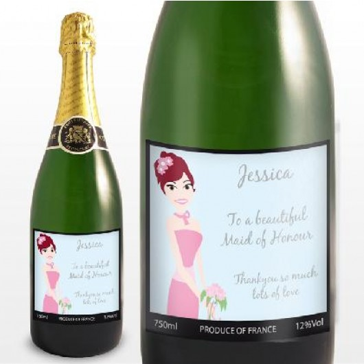 Fabulous Personalised Wedding Champagne - Bridesmaid/Maid of Honour