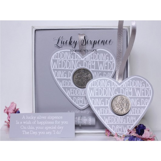 Wedding Day Lucky Sixpence
