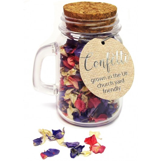 Jar of Natural Petal Confetti