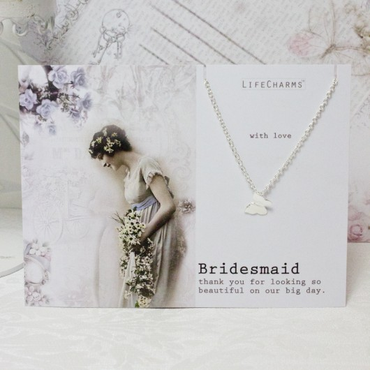 Bridesmaid Butterfly Necklace