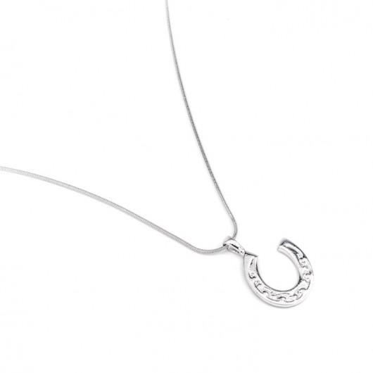 Lucky Horseshoe Pewter Necklace
