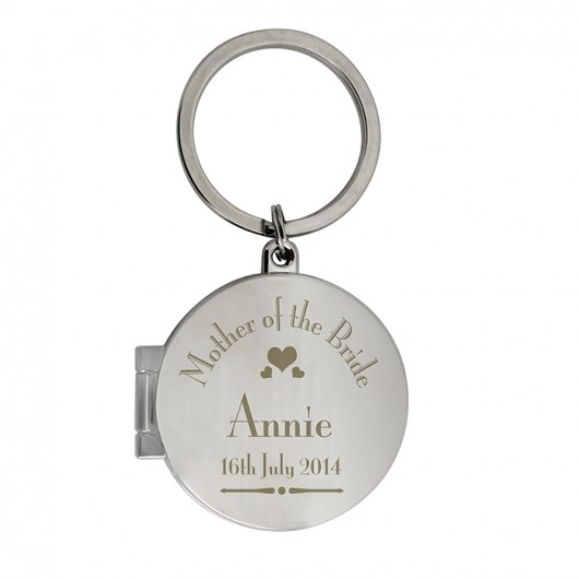 Mother Of The Bride Photo Keyring