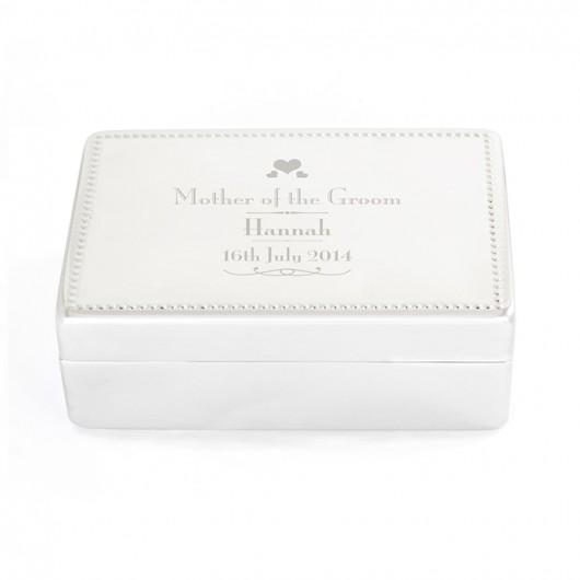 Personalised Decorative Wedding Jewellery Box