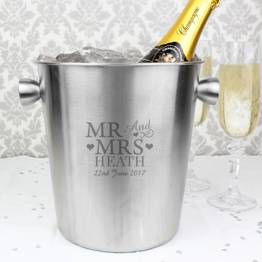 Personalised Mr & Mrs Ice Bucket