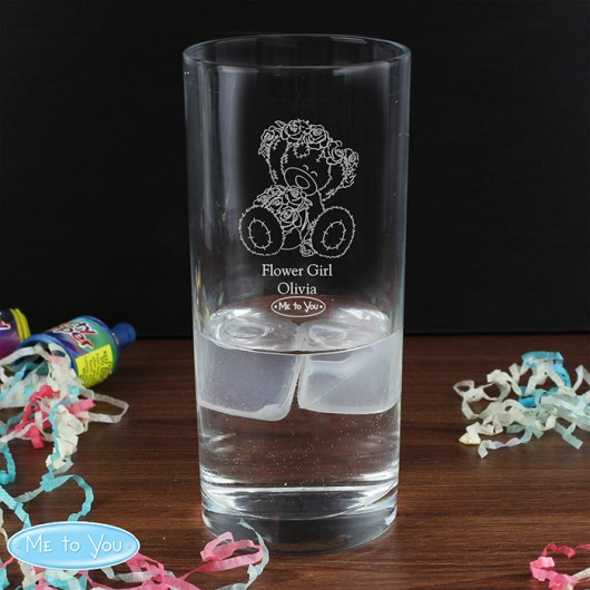 Me To You Personalised Engraved Wedding Girl Hi Ball Glass