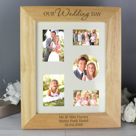 Personalised 'Our Wedding Day' Wooden Photo Frame (8 x 10)
