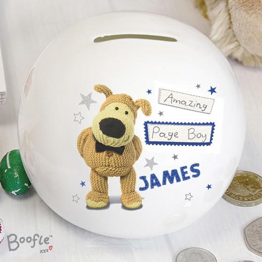 Boofle Boys Personalised Wedding Money Box